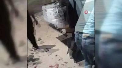 teroristler -  - Suriye'de Yol Kenarına Döşenen Bomba Patladı