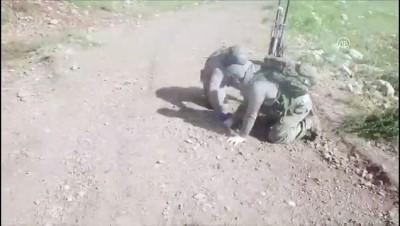 Etkisiz hale getirilen teröristler yola patlayıcı tuzaklamış - SİİRT