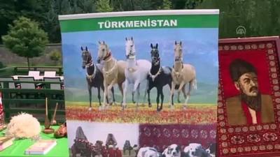 Büyük Türk şairi Mahtumkulu Firakı'nın heykeline çelenk bırakıldı - ANKARA