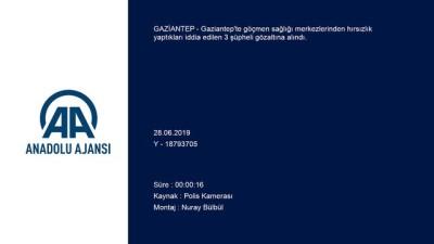 elektronik esya - Göçmen sağlığı merkezlerinden hırsızlık yaptıkları iddiasıyla 3 zanlı yakalandı - GAZİANTEP