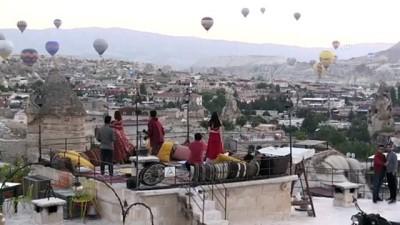 Kapadokya'da balonlar 'dekor' teraslar 'stüdyo' oldu - NEVŞEHİR
