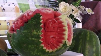 Meyveler şefin elinde 'sanat eseri'ne dönüşüyor - ŞANLIURFA