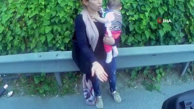 E-5 Karayolu'nda taksici Suriyeli kadını bebeğiyle yol ortasında bırakıp gitti iddiası