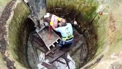 baglama -  Su kuyusuna düşen dana itfaiye ekiplerince kurtarıldı