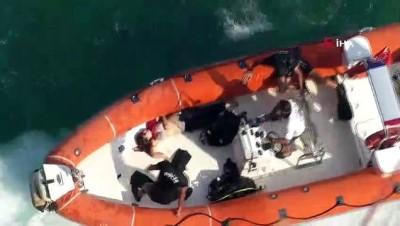 agir yarali -  Yakınlarına intihar edeceğini söyleyip falezlerden atladı...Deniz polisinin çabası genç kadını kurtarmaya yetmedi