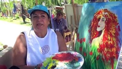 23 ülkeden gelen sanatçılar, Muş'u tuvale döküyor