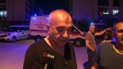 guvenlik onlemi -  Başkent'te bir bina alev alev yandı