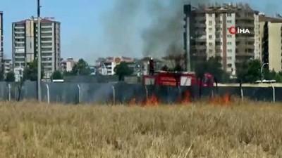 Diyarbakır'da anız yangınları mücadele devam ediyor