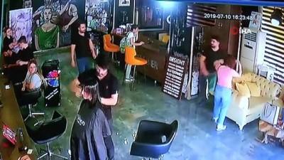 Saçına kaynak yaptırdı, para ödemeden kaçtı...Kuaförü dolandıran kadın kamerada