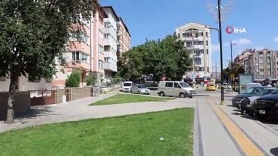 guvenlik onlemi -  Sivas'ta adliye lojmanları önünde şüpheli paket paniği