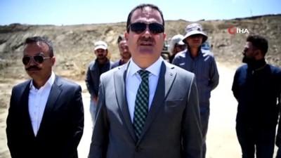 Vali Akbıyık, İran sınırındaki güvenlik yolları ve duvarlarını inceledi