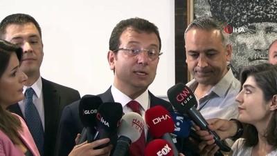 (ANKARA İBB Başkanı Ekrem İmamoğlu: 'İstanbul şu anda Dünya'ya demokrasi örneği yaşatıyor'