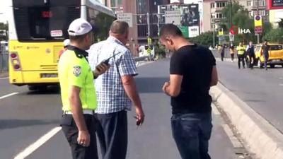 Beşiktaş'ta trafik polisine çarpan taksici göz yaşlarına hakim olamadı