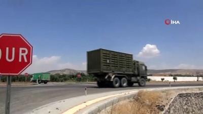Suriye sınırına topçu bataryası ile mühimmat sevkiyatı yapıldı