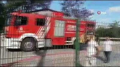 asad -  TEM otoyolunda kamyonetin alev alev yandığı anlar kamerada