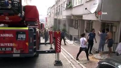 Esenyurt'ta 5 katlı binanın bodrum katında yangın çıktı