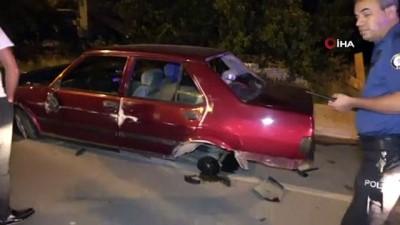 Kaza sonrası sürücü otomobili bırakıp kaçtı