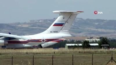 S-400 hava savunma sistemlerinin ikinci sevkiyatındaki ilk uçak indi