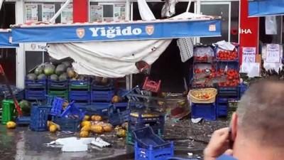 Sivas'ın en işlek caddesinde çıkan yangın korkuttu