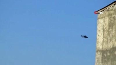 Yüksekova'dan Irak sınırına hava hareketliliği