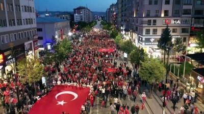 Sivas'ta binler 15 Temmuz için meydandaydı