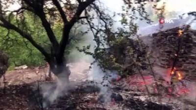 Spil Dağına düşen yıldırım ormanda yangın çıkardı