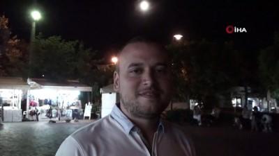 Bozcaada'da parçalı ay tutulması eşsiz görüntülere sahne oldu