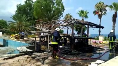 Kullanılmayan tesiste yangın: 1 ölü