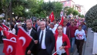 belgesel -  Niğde'de Milli Birlik yürüyüşü yapıldı
