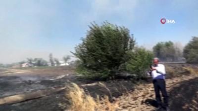Arazi de yangın çıktı, başkanın makam aracı da kül oldu