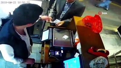 Başkent'te 'tırnakçılık' yapan şahıs kamerada Video