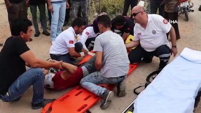 Karaman'da otomobille motosiklet çarpıştı: 1 yaralı