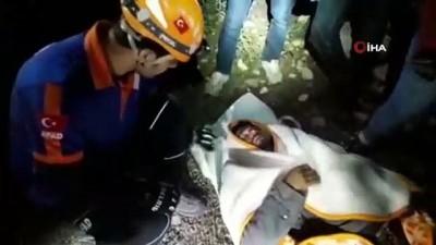 Köpek saldırısı sonucu dağda mahsur kalan vatandaş 5 saat süren operasyonla kurtarıldı Video