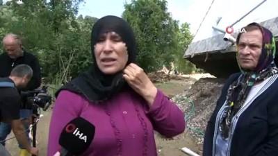 helikopter -  7 kişinin kaybolduğu Esmahanım Köyü'nde selin bıraktığı hasarlar havadan görüntülendi...Köyde yaşayan vatandaşlar felaket anını anlattı