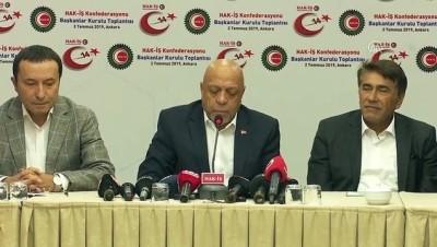 isten cikarma - Hak-İş Genel Başkanı Arslan: '(Taşeron işçiler) Kadro alamayan arkadaşlarımız var' - ANKARA