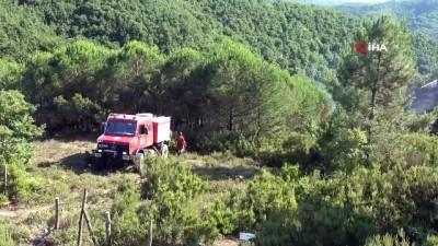 helikopter -  Şile'de korkutan orman yangını