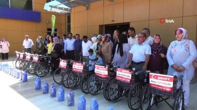 genclik merkezi -  Toplanan mavi kapaklar şehitler adına 9 engelliye umut oldu