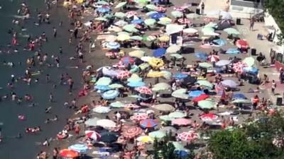 cankurtaran - Sıcaktan bunalanlar plajlara akın etti - ZONGULDAK
