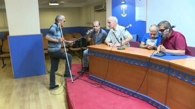 Görme engelliler bilgi yarışmasında ter döktü - ANKARA