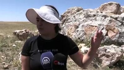 Hitit kaya anıtında kazı çalışması - KIRŞEHİR
