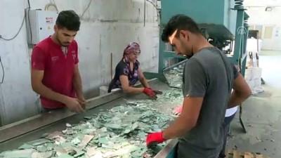 Atık camlar yeniden ekonomiye kazandırılıyor - İZMİR