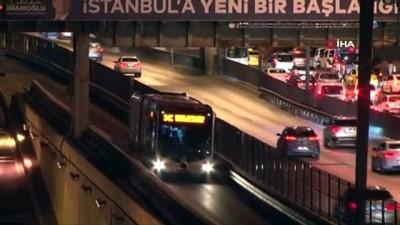 yangin tupu -  Avcılar'da metrobüs yangını