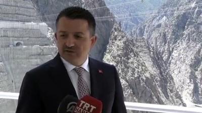 insaat alani - Pakdemirli, Yusufeli Barajı ve HES inşaatında incelemelerde bulundu - ARTVİN