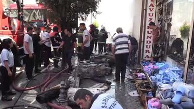 nadan - Çarşı merkezinde yangın (2) - SAMSUN