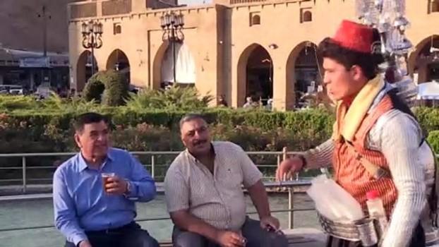 multeci kampi - Erbil'in Şamlı seyyar demirhindi şerbetçisi - ERBİL