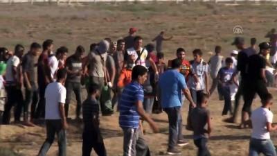 mermi - İsrail askerleri Gazze sınırında 30 Filistinliyi yaraladı (1) - GAZZE