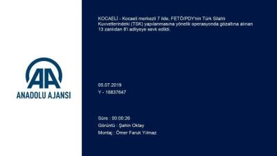 yakalama karari - Kocaeli merkezli 7 ildeki FETÖ/PDY operasyonu