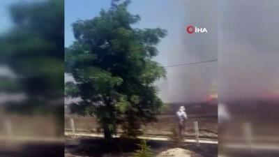 Isparta'da arazi yangınında hububat ekili alan yandı