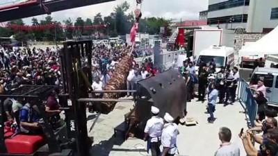 Milli Mücadele anısına tek şişte 919 kilo cağ kebabı - ERZURUM