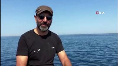 belgesel -  3 metrelik dev vatozu görüntüleyen rekortmen dalgıç, o anı anlattı